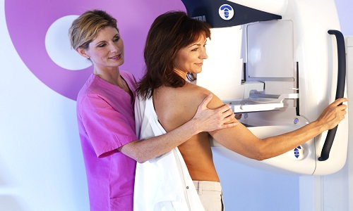 Выполнение маммографии молочных желез